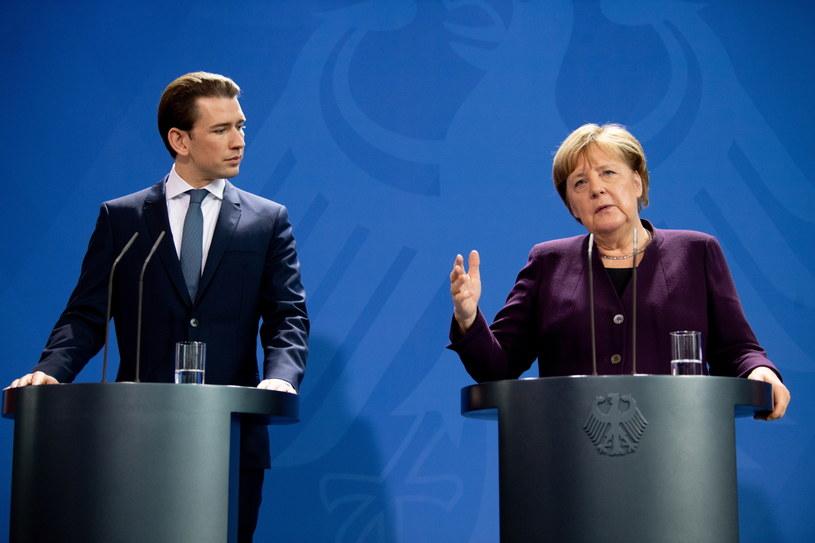 Kanclerz Niemiec Angela Merkel i kanclerz Austrii Sebastian Kurz /FILIP SINGER /PAP/EPA