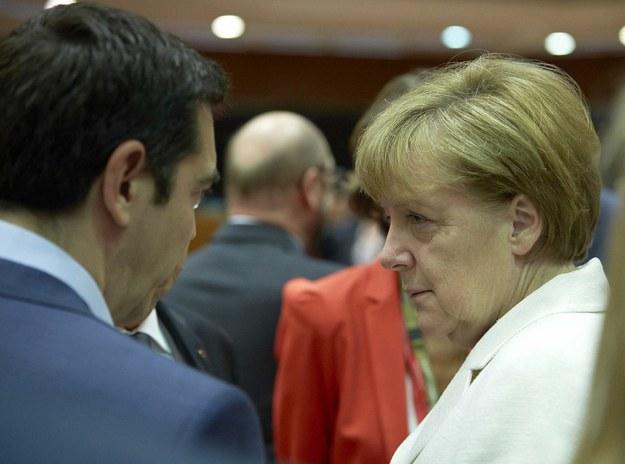 Kanclerz Niemiec Angela Merkel i premier Grecji Aleksis Cipras /Salerno/EUC/ROPI/Photoshot /PAP