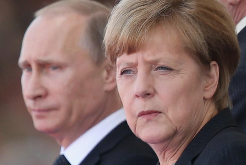 Kanclerz Niemiec Angela Merkel i prezydent Rosji Władimir Putin /Getty Images