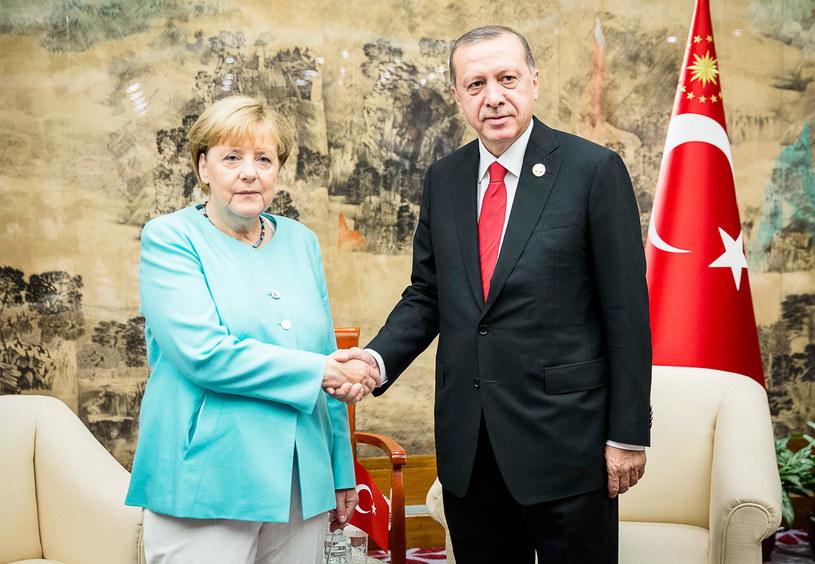 Kanclerz Niemiec Angela Merkel i prezydent Turcji Recep Erdogan /Getty Images