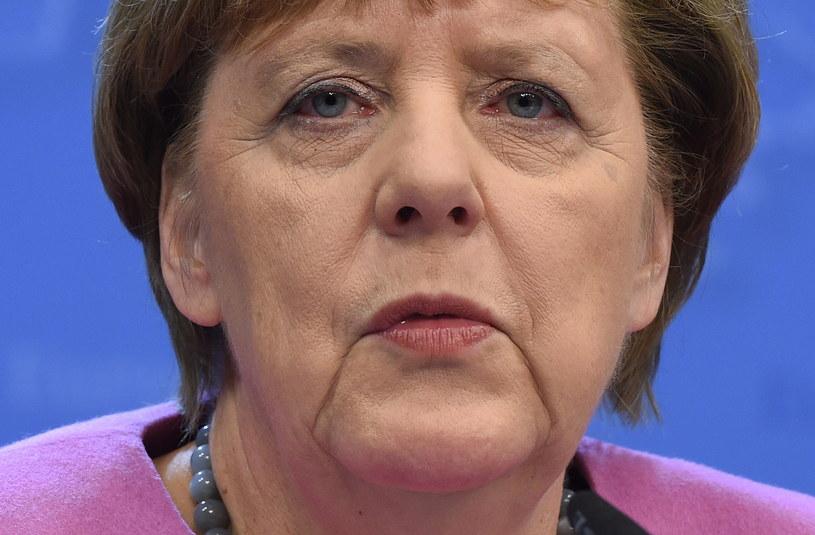 Kanclerz Niemiec Angela Merkel podczas konferencji prasowej po zakończeniu szczytu Unii Europejskiej w Brukseli /Radek Pietruszka /PAP
