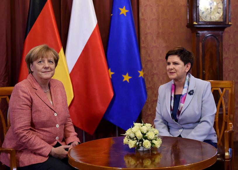 Kanclerz Niemiec Angeli Merkel i premier Beata Szydło /AFP