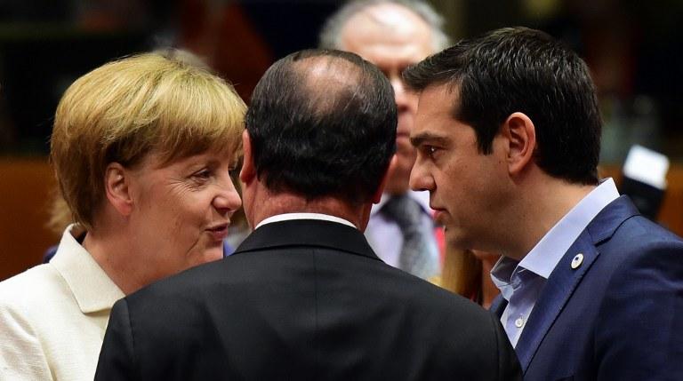 Kanclerz Niemiec i premier Grecji /AFP