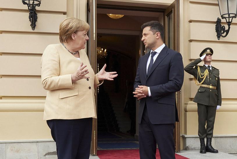 Kanclerz Niemiec i prezydent Ukrainy /Ukrainian Presidential Press Off/Associated Press/East News /East News
