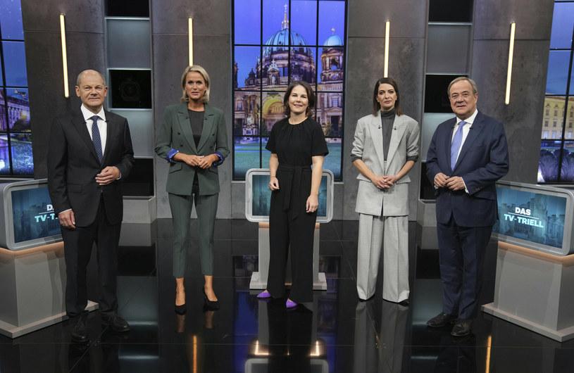 Kandydaci czołowych niemieckich partii przed debatą wyborczą /dpa/Associated Press /East News