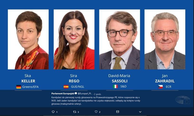 Kandydaci do pierwszej rundy głosowania na Przewodniczącego PE /Twitter