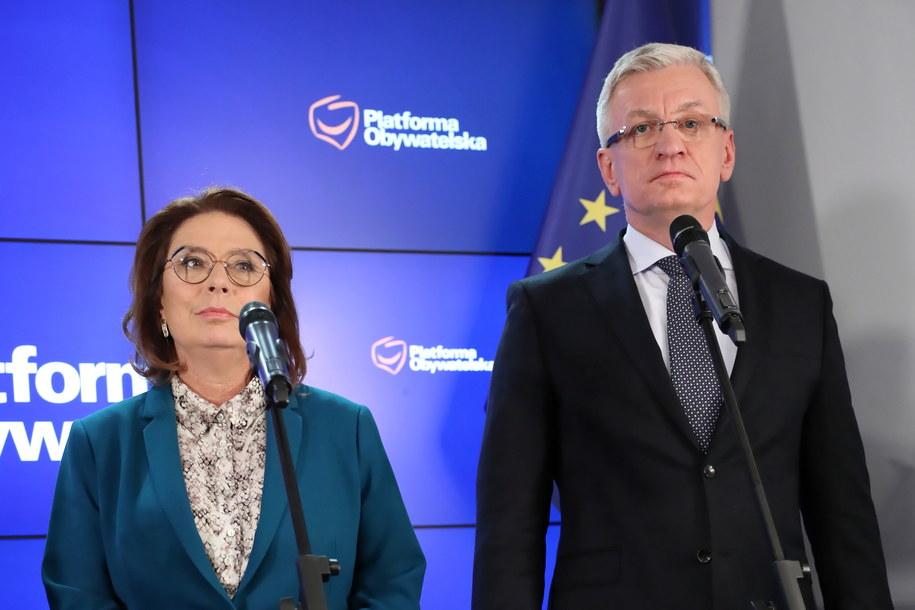 Kandydaci na kandydatów: wicemarszałek Sejmu Małgorzata Kidawa-Błońska i prezydent Poznania Jacek Jaśkowiak /Leszek Szymański /PAP