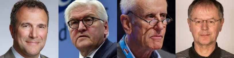 Kandydaci na prezydenta Niemiec: Alexander Hold, Frank Walter Steinmeier, Christoph Butterwegge, Albrecht Glaser /AFP