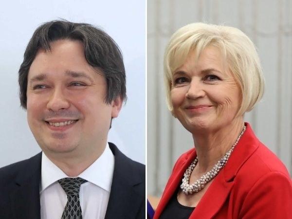 Kandydaci na stanowisko Rzecznika Praw Obywatelskich: prof. Marcin Wiącek i senator Lidia Staroń / Tomasz Gzell    /PAP