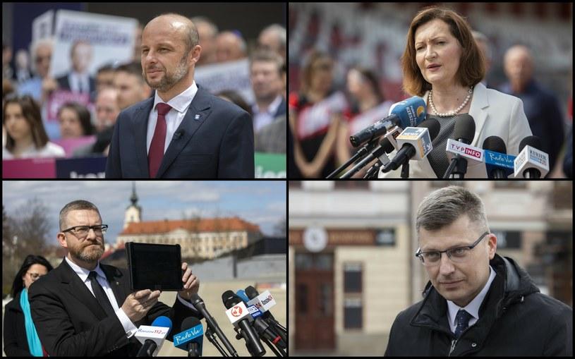 Kandydaci na urząd prezydenta miasta Rzeszowa /Grzegorz Bukala/REPORTER /East News