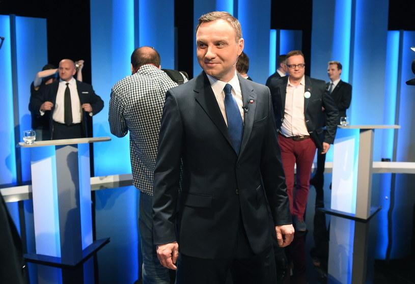 Kandydaci na urząd prezydenta RP Andrzej Duda /Radek Pietruszka /PAP