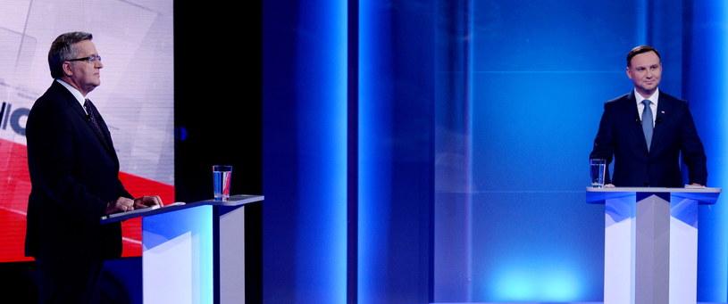 Kandydaci podczas debaty, fot. Jan Bogacz/TVP /PAP