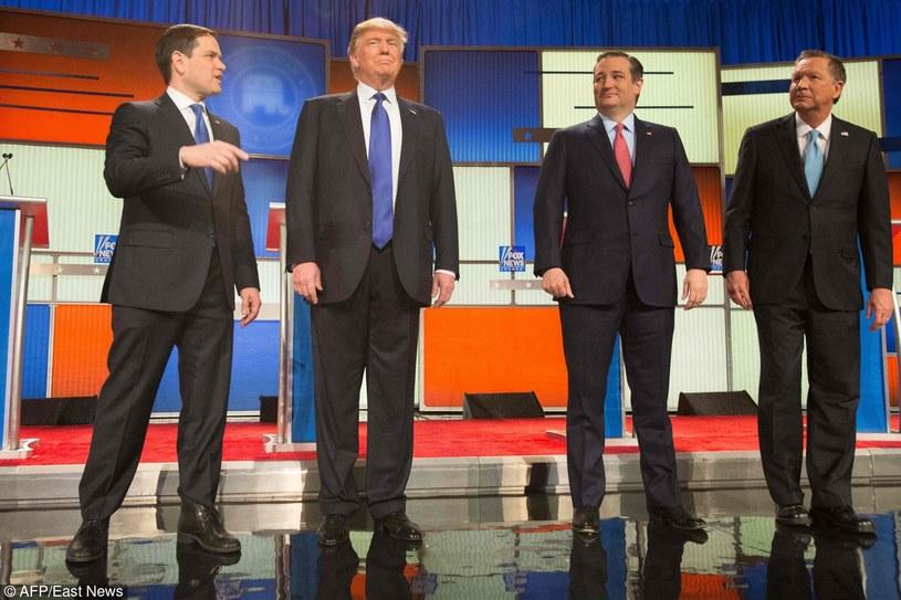 Kandydaci Republikanów: Marco Rubio, Donald Trump, Ted Cruz i John Kasich /AFP /East News