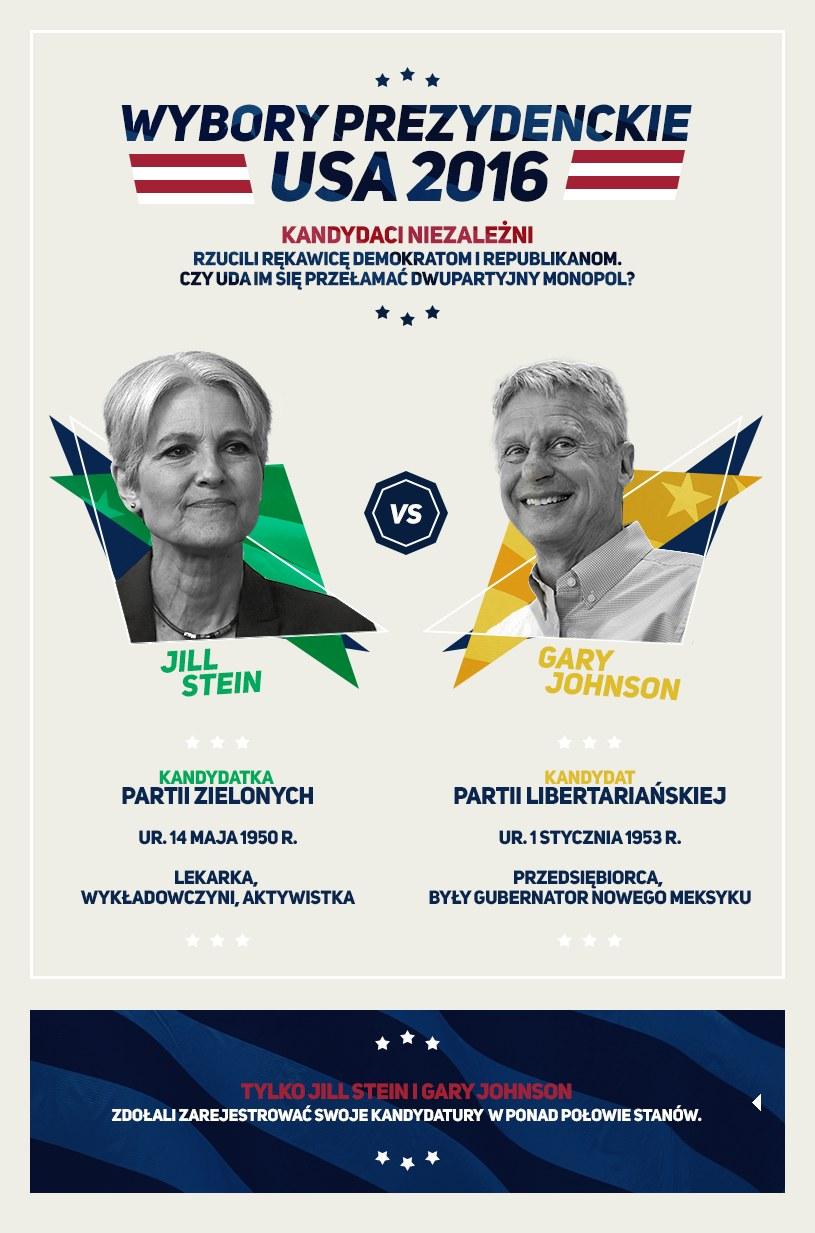 Kandydaci spoza głównego nurtu: Jill Stein i Gary Johnson /INTERIA.PL