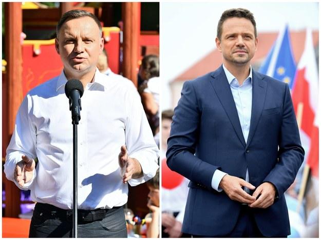 Kandydaci w wyborach prezydenckich 2020 (II tura wyborów): Andrzej Duda i Rafał Trzaskowski /Sebastian Borowski/ Darek Delmanowicz /PAP