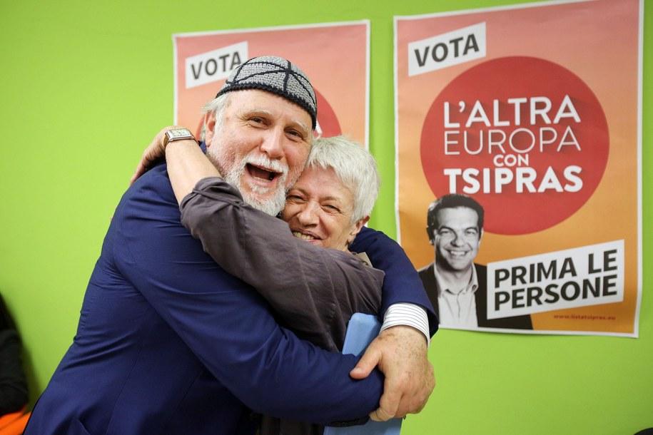Kandydaci z włoskiej lewicy cieszą się z wyników (zdj. ilustracyjne) /VINCENZO TERSIGNI /PAP/EPA