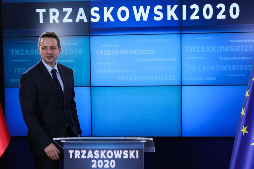 Kandydat Koalicji Obywatelskiej Rafał Trzaskowski /Andrzej Hulimka  /Agencja FORUM