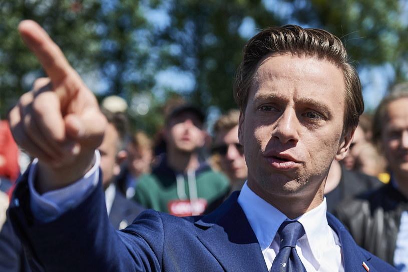 Kandydat Konfederacji w wyborach prezydenckich Krzysztof Bosak / Adam Warżawa    /PAP