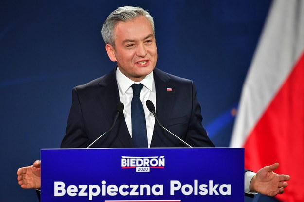 Kandydat Lewicy na prezydenta Robert Biedroń /Sebastian Borowski /PAP
