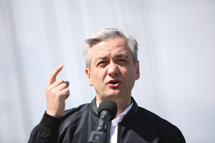 Kandydat Lewicy na prezydenta Robert Biedroń /Leszek Szymański /PAP