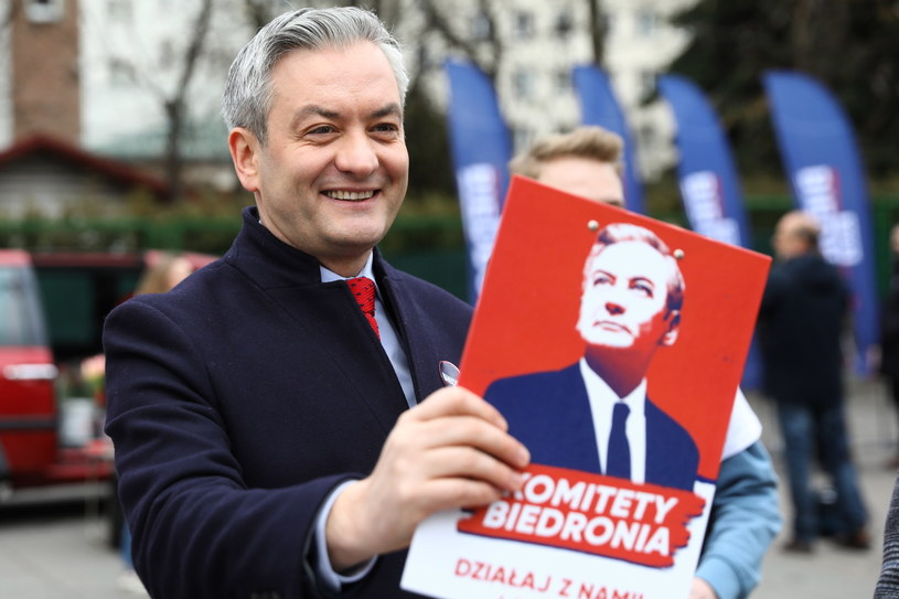 Kandydat Lewicy na urząd prezydenta Robert Biedroń /Rafał Guz /PAP