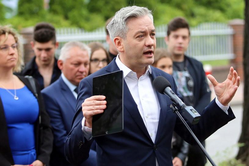 Kandydat Lewicy w wyborach prezydenckich Robert Biedroń /Waldemar Deska /PAP
