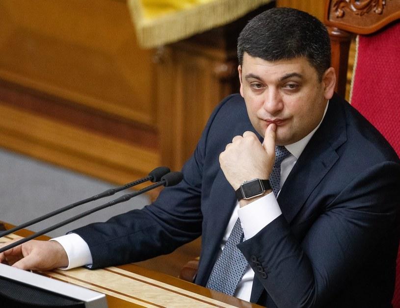 Kandydat na nowego premiera Wołodymyr Hrojsman /PAP/EPA