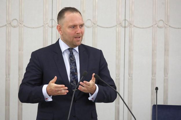 Kandydat na prezesa Instytutu Pamięci Narodowej dr Karol Nawrocki /Tomasz Gzell /PAP