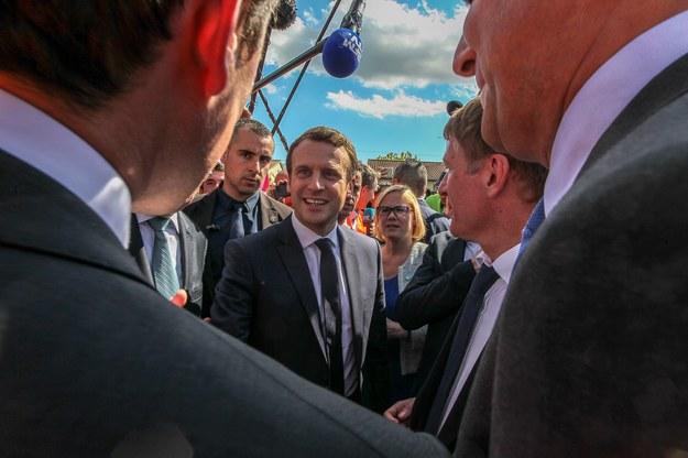 Kandydat na prezydenta Francji Emmanuel Macron /Frederic Scheiber /PAP/EPA