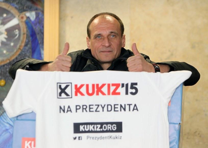 Kandydat na prezydenta Paweł Kukiz /STANISLAW KOWALCZUK /East News
