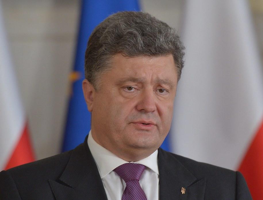 Kandydat na prezydenta Ukrainy Petro Poroszenko. /Radek Pietruszka /PAP