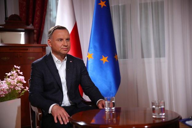 Kandydat na prezydenta w II turze wyborów Andrzej Duda podczas wywiadu dla TVP //Łukasz Gągulski /PAP