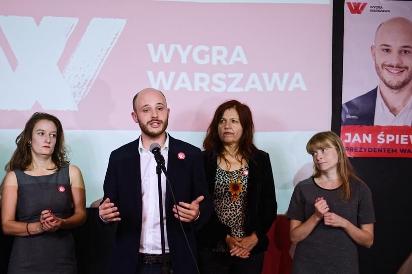 Kandydat na prezydenta Warszawy KWW Wygra Warszawa - Jan Śpiewak /PAP
