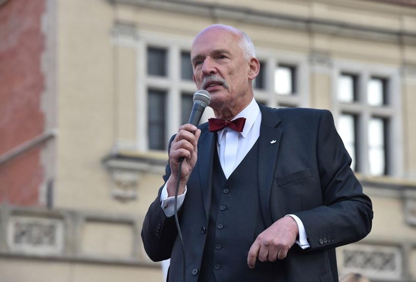 Kandydat partii KORWiN na prezydenta Janusz Korwin-Mikke /Jacek Bednarczyk /PAP