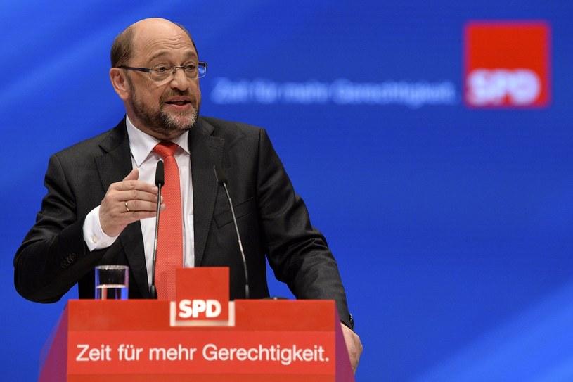 Kandydat SPD na kanclerza Niemiec Martin Schulz /Sascha Steinbach /PAP/EPA
