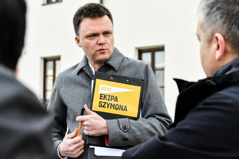 Kandydat w wyborach prezydenckich Szymon Hołownia /Wojciech Jargiło /PAP