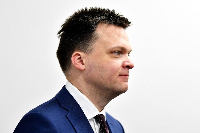 Kandydat w wyborach prezydenckich Szymon Hołownia / Piotr Polak    /PAP