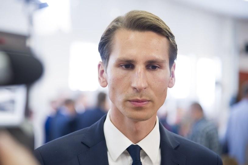 Kandydat Zjednoczonej Prawicy na prezydenta Gdańska Kacper Płażyński /Wojciech Stróżyk /Reporter