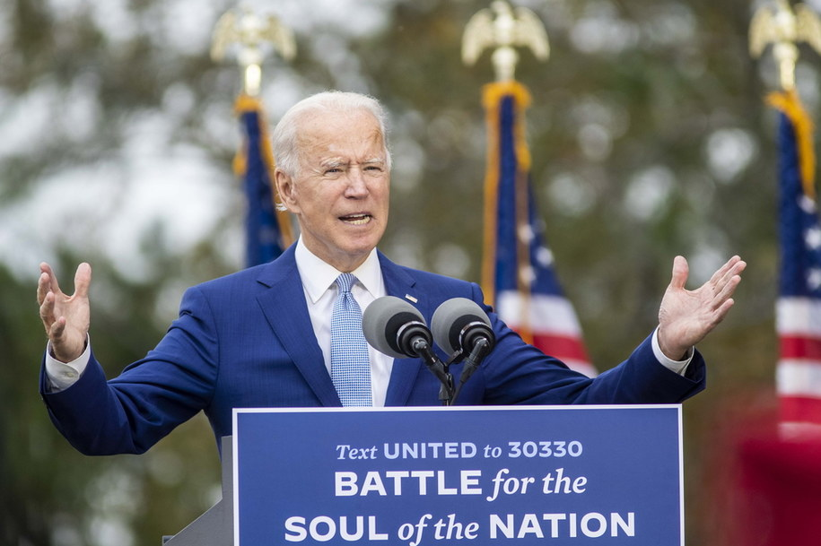 Kandydata na prezydenta USA Joe Biden na wiecu w Warm Springs /ALYSSA POINTER / THE ATLANTA JOURNAL-CONSTITUTION /PAP/EPA
