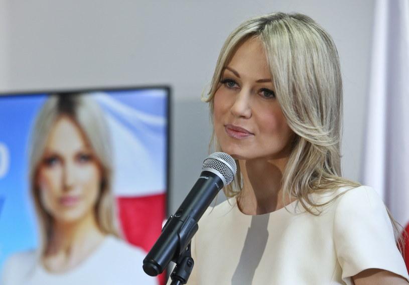 Kandydatka SLD na prezydenta Magdalena Ogórek w siedzibie sztabu wyborczego /Rafał Guz /PAP