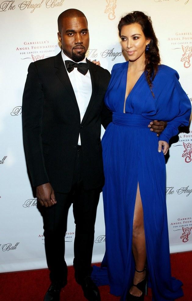 Kanye West i Kim Kardashian /Steve Mack /Getty Images