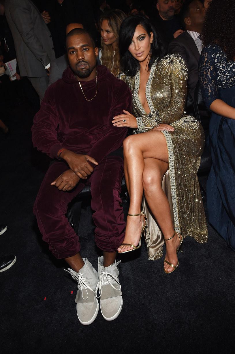 Kanye West i Kim Kardashian /Larry Busacca /Getty Images