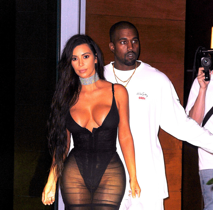 Kanye West i Kim Kardashian /JENY / Splash News /East News