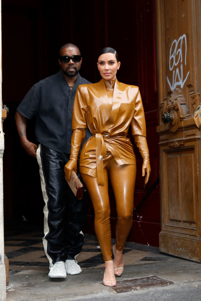Kanye West i Kim Kardashian /Mehdi Taamallah/NurPhoto /Getty Images
