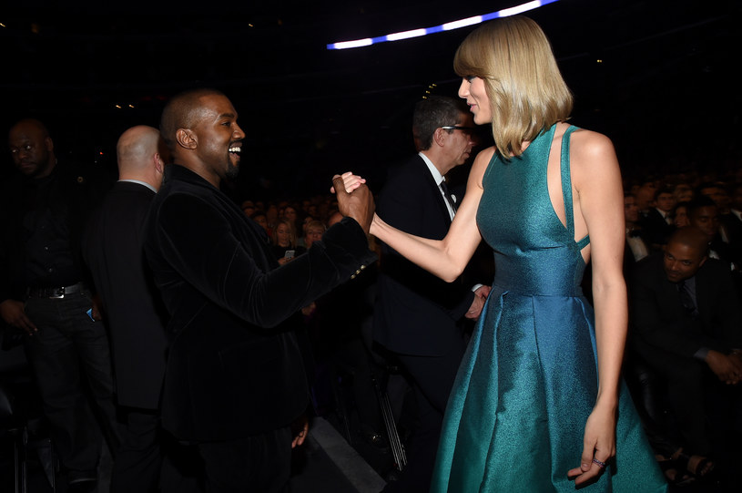 Kanye West i Taylor Swift podczas gali Grammy 2015 / Larry Busacca /Getty Images