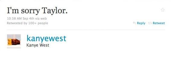 Kanye West przeprasza Taylor Swift na Twitterze /