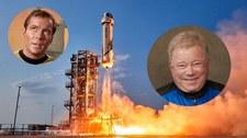 Kapitan Kirk poleciał w kosmos z Blue Origin. Tak wyglądał jego lot [WIDEO]