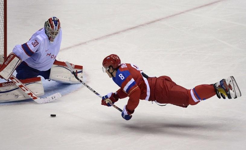 Kapitan Rosji Aleksander Owieczkin to największa gwiazda hokejowych MŚ w Mińsku /AFP