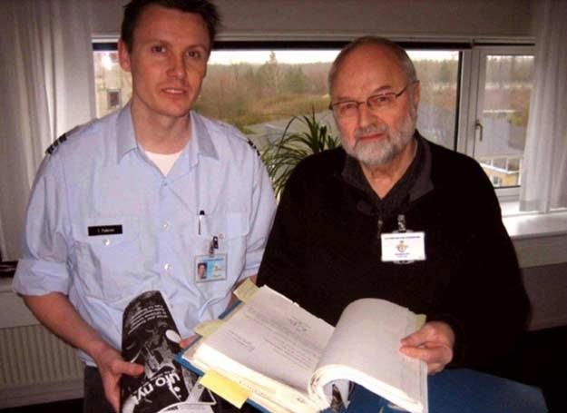 Kapitan Thomas Pedersen i ufolog Ole Henningsen /MWMedia
