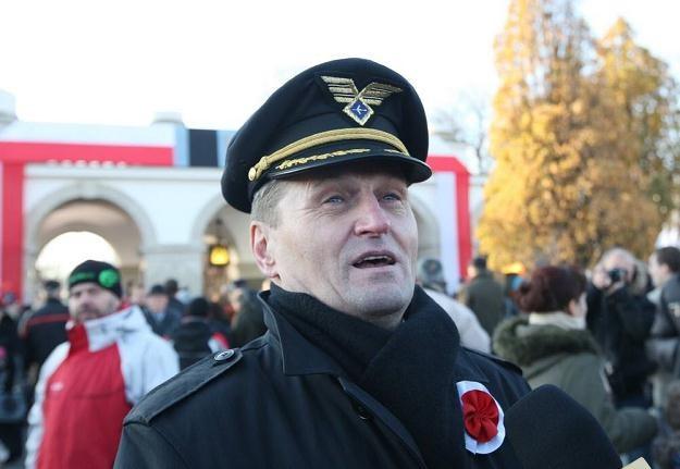 Kapitan Wrona podczas obchodów Święta Niepodległości w Warszawie/Fot. S. Kowalczuk /East News